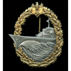 "Kriegsmarine destroyer badge by W.Hobacher ""WH"""