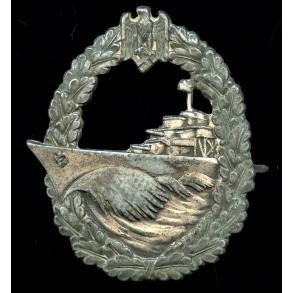 Kriegsmarine destroyer badge by Schwerin, Berlin