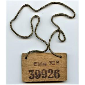 "Stalag ID tag wood ""Stalag XI B"" #39926"