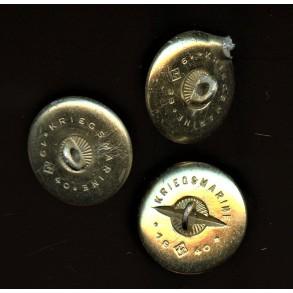 3 aluminum Kriegsmarine buttons J.C. Maedicke