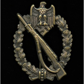 """Infantry assault badge in silver by K. Wurster """"small w"""""""