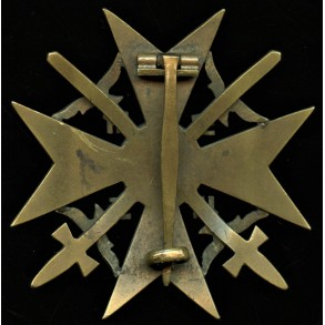 Spanish cross in bronze by C.E. Juncker