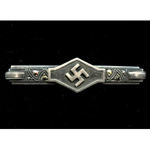 "Third Reich ""800"" silver broach with stones"