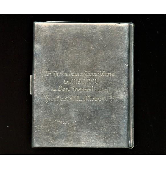 NSDAP Treffen Gau Hessen-Nassau sigaret case 1936