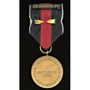 Czech annexation medal with Prague bar