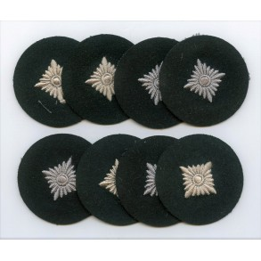 Set of 8 mint Oberschütze rank patches