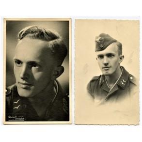2 studio portrait photos in Paris, France 1942