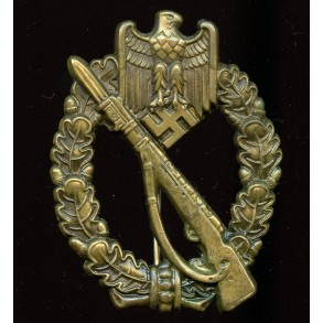 Infantry assault badge in bronze by Schauerte & Höhfeld