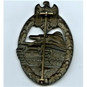 """Panzer assault badge in bronze by F.W. Assmann & Sohn """"A"""""""