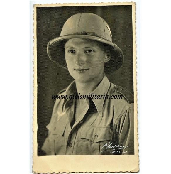 Portrait Luftwaffe soldier tropical uniform, Catania, Sicily