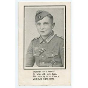 Death card to Uffz. H. Stein, KIA Caen, Normandy 1944
