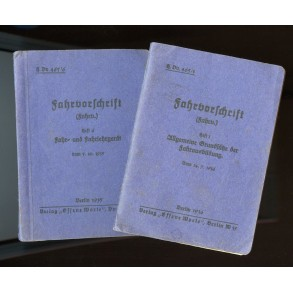 "2 instruction manuals for horse driving ""Fahrvorschrift"""