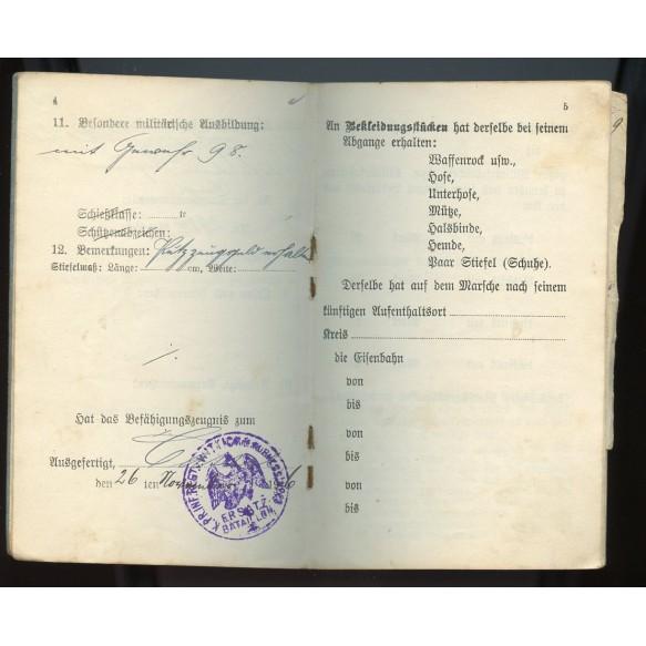 WW1 Iron cross 2nd class grouping award document + Militärpass IR252