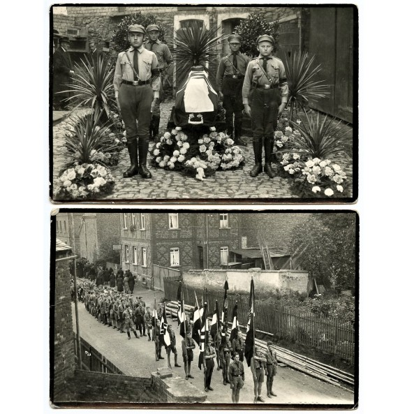 2 early HJ photos, death of young boy 1934