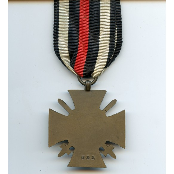 """1914-1918 Honour cross with swords by """"G&S"""""""