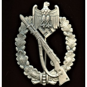 """Infantry assault badge in silver by Carl Wild """"CW"""""""