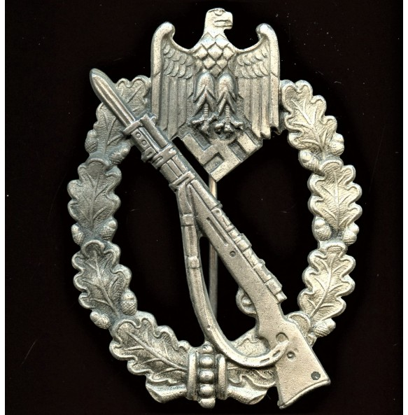 "Infantry assault badge in silver by Carl Wild ""CW"""