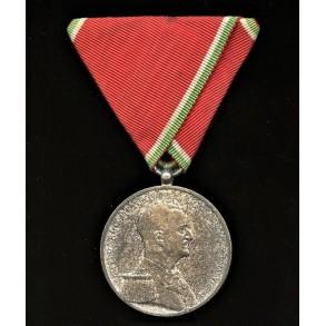 Hungarian bravery medal, austrian mount