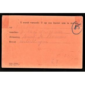 Card Feldkommandantur 520, Antwerpen Meir