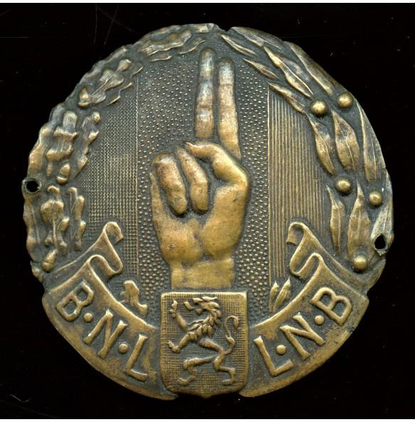 """Metal cap badge """"Nationaal Legioen"""""""