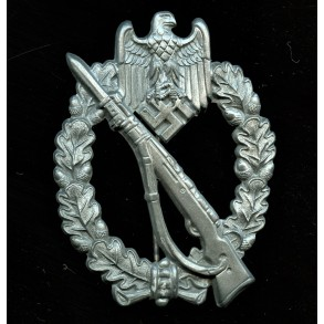 """Infantry assault badge in silver badge by F. Orth """"F.O."""""""