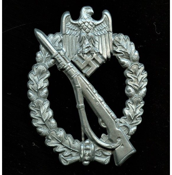 "Infantry assault badge in silver badge by F. Orth ""F.O."""