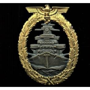 Kriegsmarine high sea fleet badge, by Schwerin