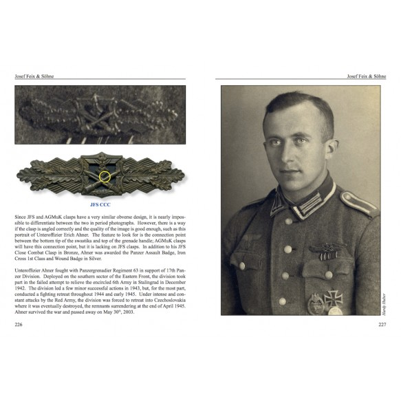 "LAST BOOK IN STOCK ""The German Close Combat Clasp of World War II"" by Thomas Durante"
