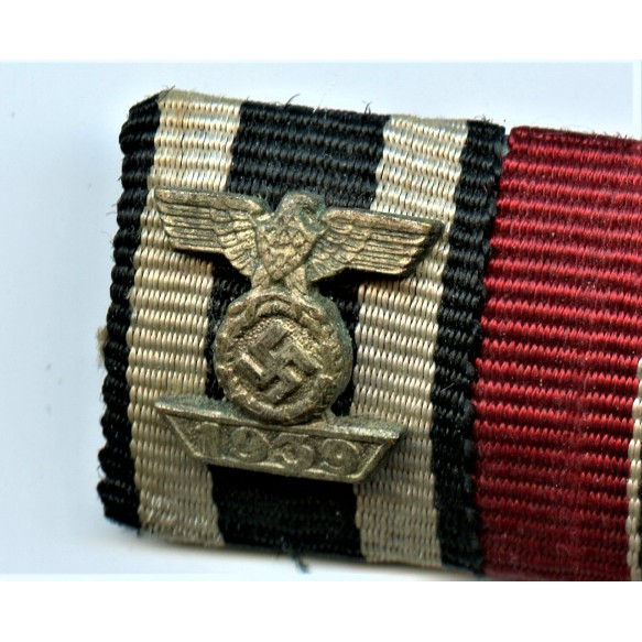 Ribbon bar with iron cross clasp 2nd class