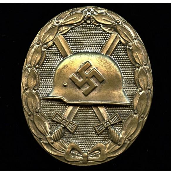 "Wound badge in silver ""large style"" by Deschler/Wiedmann"