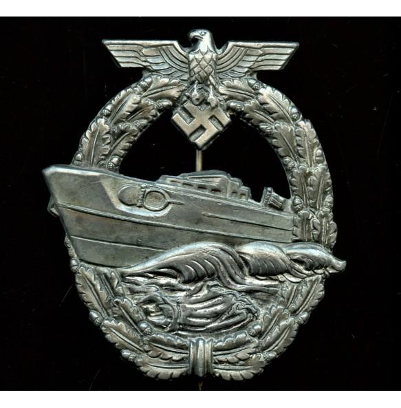 Kriegsmarine S-boat badge nu R. Souval