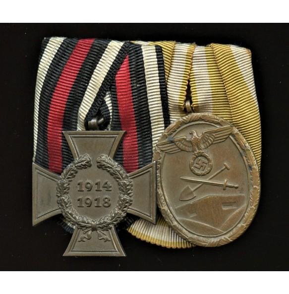 Westwall medal ribbon bar