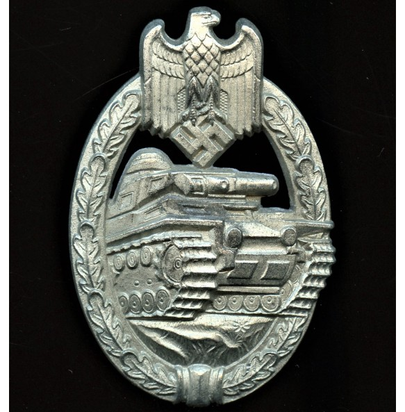 "Panzer assault badge in silver ""Daisy"""