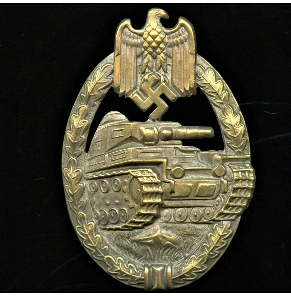 Panzer assault badge in silver by Paul Meybauer