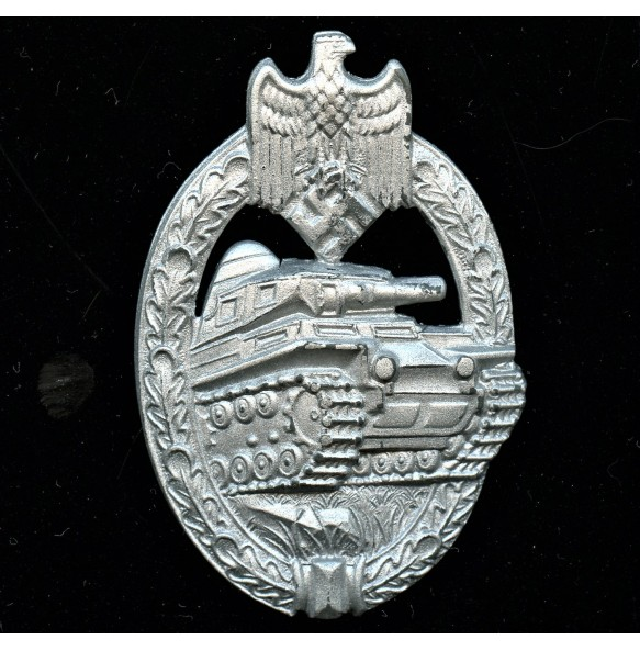 "Panzer assault badge in silver ""A.S."" in triangle"