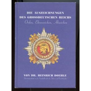 """Collectors book: """"Die Auszeichnungen des Grossdeutschen Reichs: Orden, Ehrenzeichen, Abzeichen"""" by Dr. Doehle"""