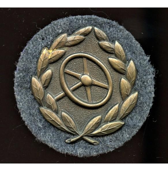 Luftwaffe drivers badge in bronze
