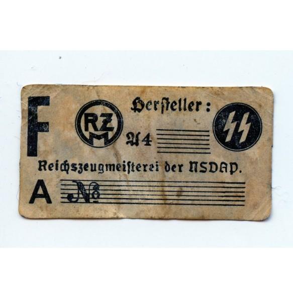 SS RZM label
