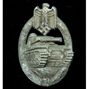Panzer assault badge in bronze by Hermann Aurich