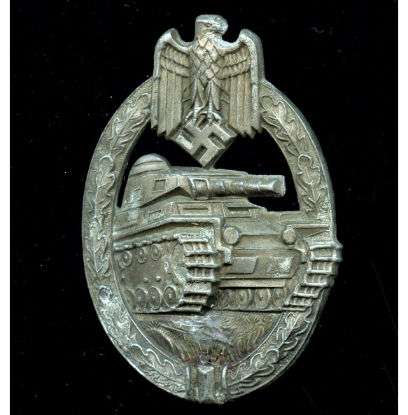 Panzer assault badge in bronze by Hermann Aurich