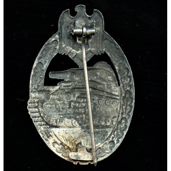 Panzer assault badge in silver by Gebr. Wegerhoff