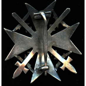 """Spanish cross in silver with swords """"900"""" silver"""