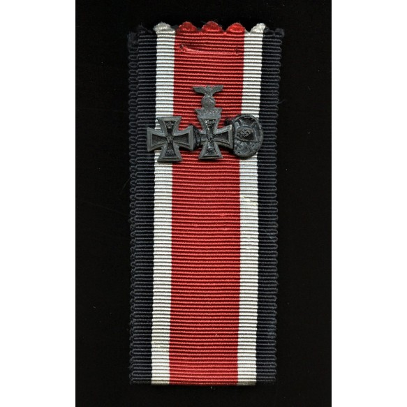 Iron cross 1st class and 2nnd class combo clasp miniature