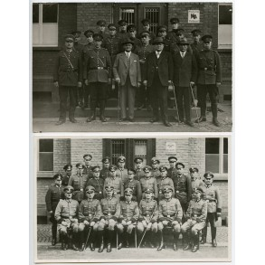 2 private group photos Prussian Polizei