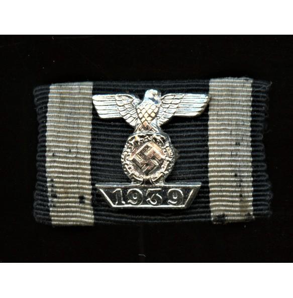 Iron cross clasp 2nd class miniature ribbon bar 16mm