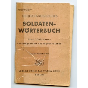 Period German/Russian translation booklet