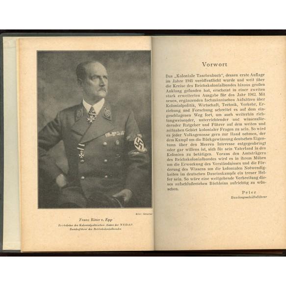 """Period pocket book: """"Koloniales Taschenbuch 1942"""""""