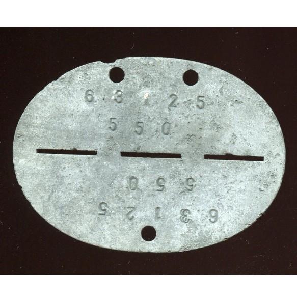 Luftwaffe paratrooper ID disc, late war