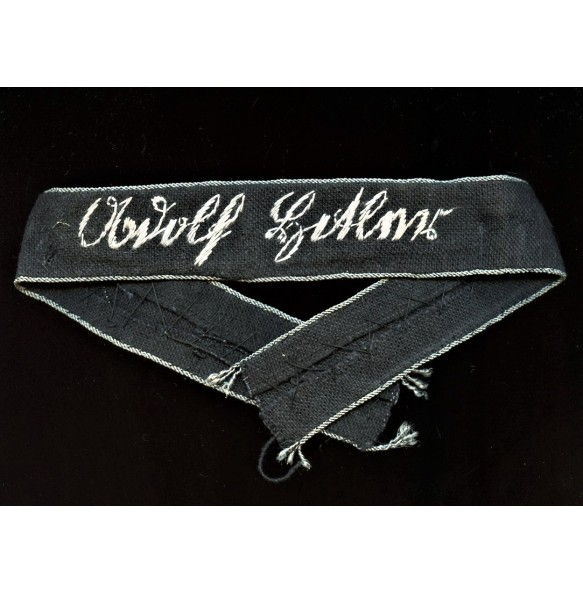 """LSSAH cuff title """"Adolf Hitler"""" Flemish make"""