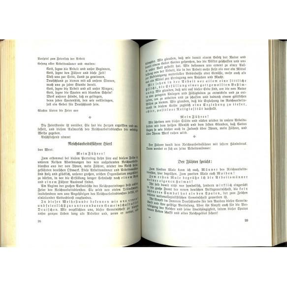 """Period book """"Reichsparteitag 1938"""""""